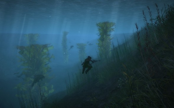 "The underwater combat is so good that you might actually say, ""I really liked the water level."""