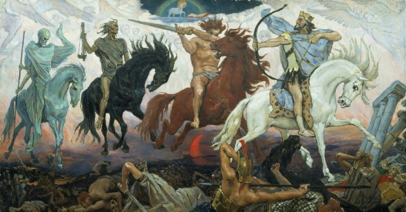 The four horsemen of the apocalypse is perhaps one of the most striking images to come out of Revelation.