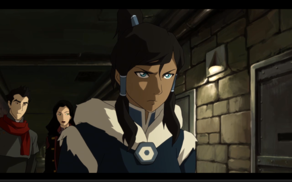 This is Korra's angry face. She makes it a lot.