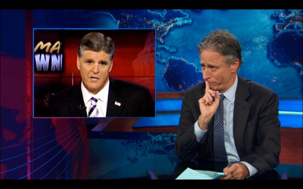 Jon Stewart's faces are half the joke.